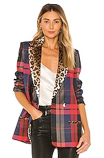 VALENTINA SHAH Clair Blazer in Leo & Plaid
