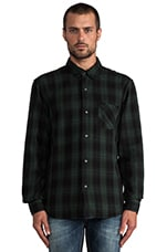 Nash Plaid Button Down in Hunter