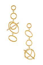 Wanderlust + Co Multi Helix Earrings in Gold