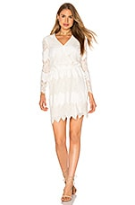 WAYF White Shores Wrap Dress in Ivory
