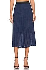 Pleated Midi Skirt in Navy