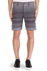 Sakiori Stripe Shore Short in Black