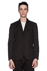 Sateen Field Blazer in Black