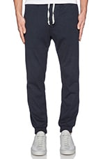 Marled Jersey Pant in Navy