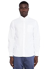 Long Sleeve Sashiko Button Down in White