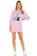 Wildfox Couture Space Shark Roadtrip Sweater Dress in Crepe