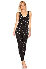 Wildfox Couture Falling Hearts Onesie in Clean Black