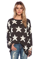 Wildfox Couture Seeing Stars Lennon Sweater in Dirty Black