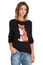 Wildfox Couture Red Fox Pullover in Clean Black