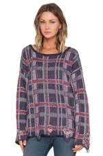 All Over Plaid Pullover in Multi
