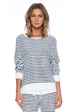 x REVOLVE Baggy Beach Jumper in Clean White & Navy