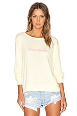 Smart Blonde Baggy Beach Jumper in Blonde
