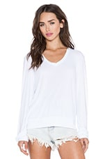 Essential Baggy Beach V-Neck in Clean White