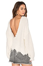 Wildfox Couture Solid Sweater in Clean White