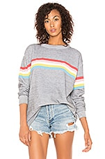 Wildfox Couture Marvel Stripe Roadtrip Sweater in Heather