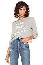 Wildfox Couture Blah Blah Blase Monte Crop Pullover in Heather
