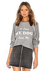 Wildfox Couture My Dog Loves Me Sommers Sweatshirt in Heather