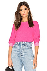Wildfox Couture Vin Varsity Baggy B Sweater in Neon Magenta