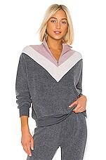Wildfox Couture Soto Warmup Sweatshirt in Night & Crush & Rose