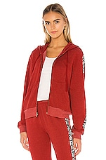 Wildfox Couture Python Everyday Track Jacket in Pepper