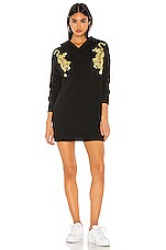 Wildfox Couture Prowlin Around Rebel Hoodie in Clean Black