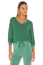 Wildfox Couture Baggy Beach Jumper in Envy