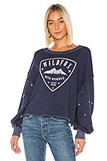 Wildfox Couture Crest Olivia Sweatshirt in Oxford