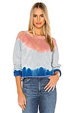 Wildfox Couture Monte Crop Sweatshirt in Guava Dip Dye