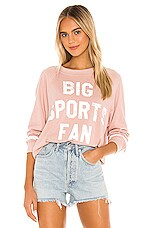 Wildfox Couture Big Sports Fan Sommers Sweatshirt in Cobra
