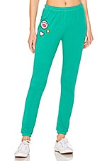 Wildfox Couture Knox Sweatpant in Emerald Green