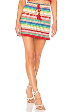 Wildfox Couture Vibrant Glow Stassi Skirt in Multi