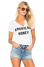 Wildfox Couture American Honey Woody Tee in Clean White & Babydoll Pink