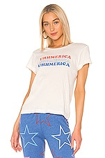 Wildfox Couture Uhhmerica No9 Tee in Vintage Lace
