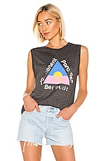 Wildfox Couture Permanent Paradise Bermuda Muscle Tank in Clean Black