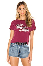 Wildfox Couture Our Signs Align Baby Tee in Sangria