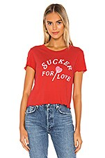 Wildfox Couture Sucker For Love Sydney Tee in Tango