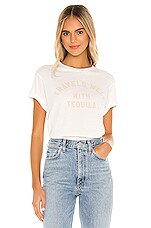 Wildfox Couture Con Tequila Baby Jersey Tee in Vanilla