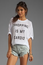 Wildfox Couture Shopping is My Cardio Cobain T in Clean White