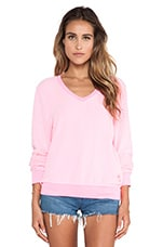 Baggy Beach Long Sleeve V-Neck in Party Girl