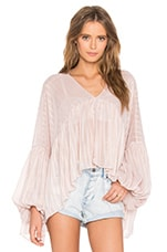 Wildfox Couture V Neck Top in Pink Lurex