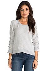 Wilt Pearl Crop Sweatshirt in Grey Heather