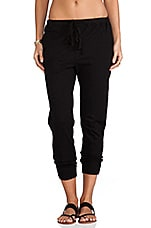 Crop Sweatpant en Noir