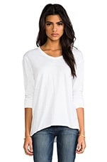 Slub Jersey Slouch BF Long Sleeve in White