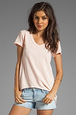 Slub Shrunken Boyfriend Tee in Clay