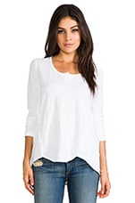 Long Sleeve Shrunken Henley Shirttail in