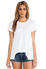 Paneled Slouchy Tee in White