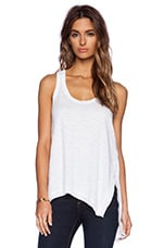 Slouchy Slit Tank in White