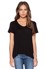 Lux Slub Short Sleeve Easy Tee in Black