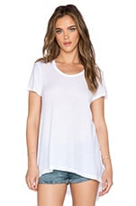 Cotton Jersey Baby Tee in White