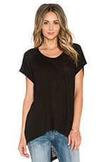 Slouchy Shift Tee in Black